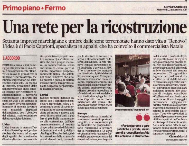corriere adriatico 22-11-2017